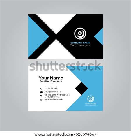 Business card template clean modern stock vector royalty free business card template clean and modern fbccfo Image collections