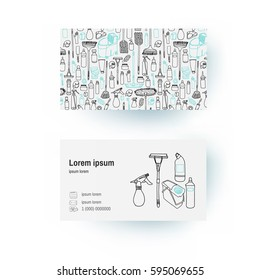 sample cleaning business cards