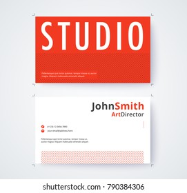 Business card template for commercial design on white background. vector illustration