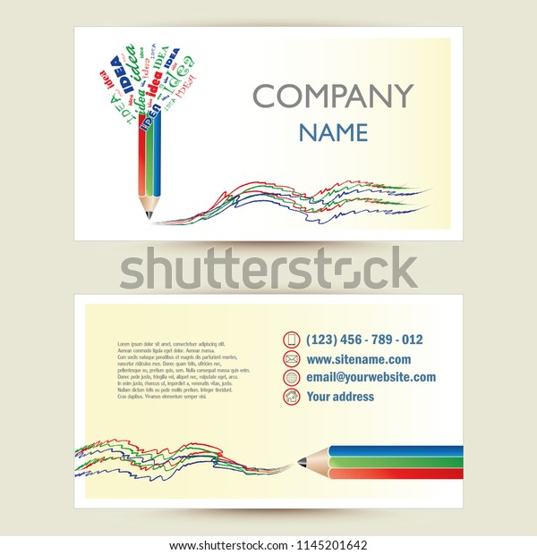 Business Card Template Business Concept Ideas Stock Vector