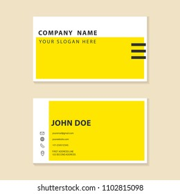 business card template design. For business company, or personal contact.
