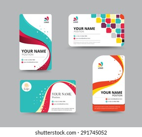 Business card template design with floral concept. vector illustration.