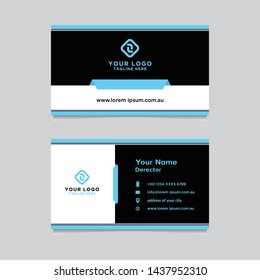 Business card template design simple very easy to use for company or business.