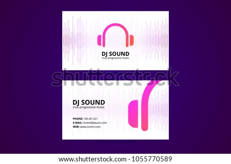 Business card template dj music business stock vector royalty free business card template for dj and music business with headphones icons cheaphphosting Image collections