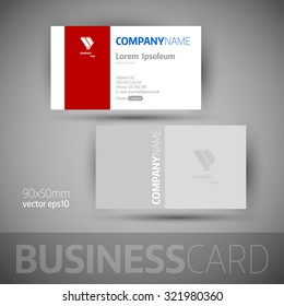 Business card template. Elegant vector illustration.