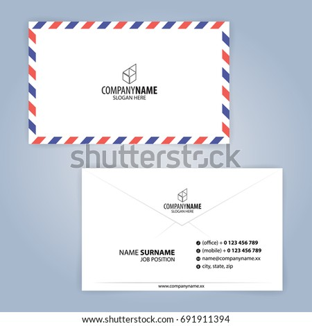 Business card template envelope illustration vector stock vector business card template envelope illustration vector 10 cheaphphosting Image collections