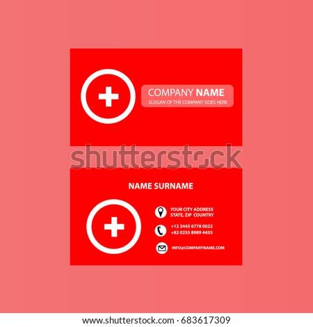 Business card template first aid vector stock vector royalty free business card template first aid vector maxwellsz