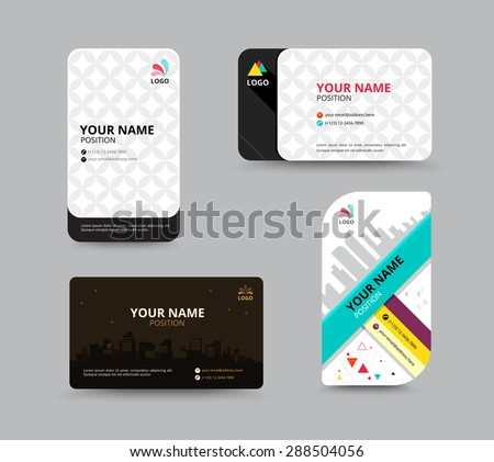 Business Card Template Name Card Design Stock Vector (Royalty Free ...