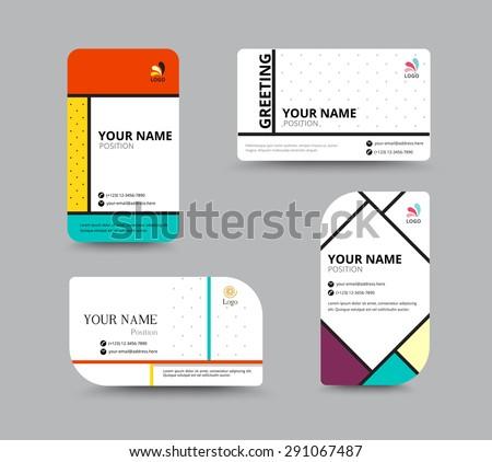 business card template name card design のベクター画像素材