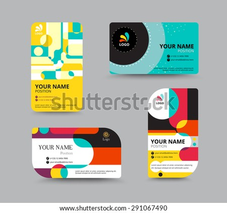 business card template name card design のベクター画像素材