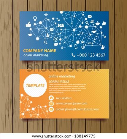 Business card template online marketing vector stock vector royalty business card template for online marketing vector illustration flashek Gallery