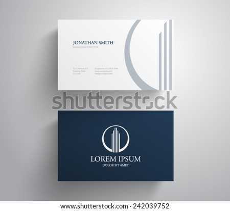 business card template real estate apartment stock vector royalty