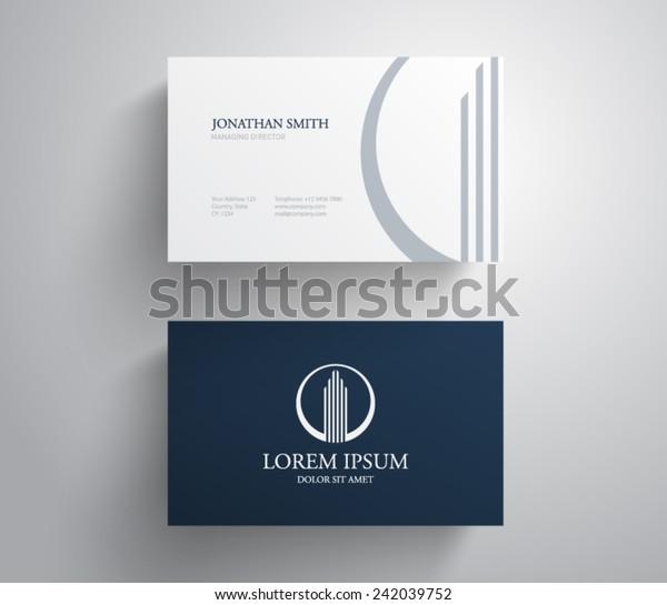 Visitenkarte Vorlage Immobilien Wohnung Condo Haus Stock