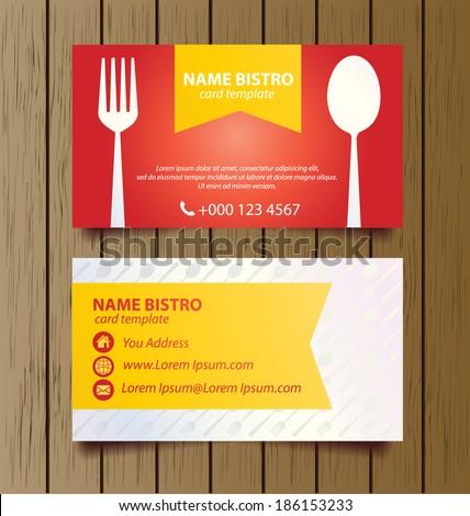 Business card template restaurant business vector stock vector business card template for restaurant business vector illustration fbccfo Images