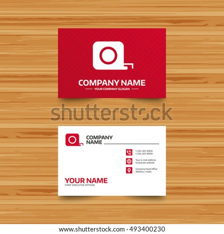 Business Card Template Roulette Construction Sign Stock Vector ...