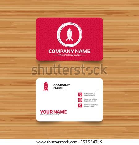 Business card template texture start icon stock vector royalty free business card template with texture start up icon startup business rocket sign phone colourmoves