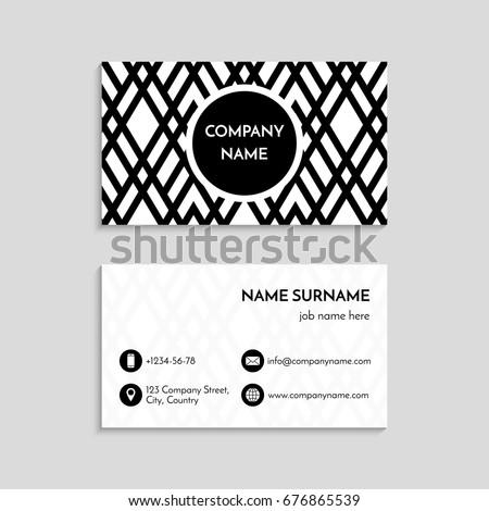 Business Card Template Usa Canada Standard Stock Vector Royalty