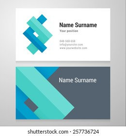 Business card template. Vector design. Layered, editable.
