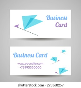 Business card template. Vector icon for beauty industry, beauty salon, cosmetic labeling, beauty boutique.