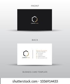 Business card template, vector illustration design