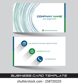 Business card template or visiting card set/vector illustration with front and back side
