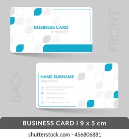 Business card template for your corporate or personal presentation. Vector illustration.