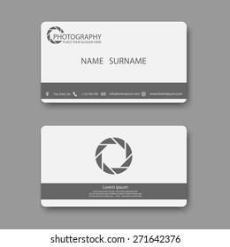 Business card template,photography,vector