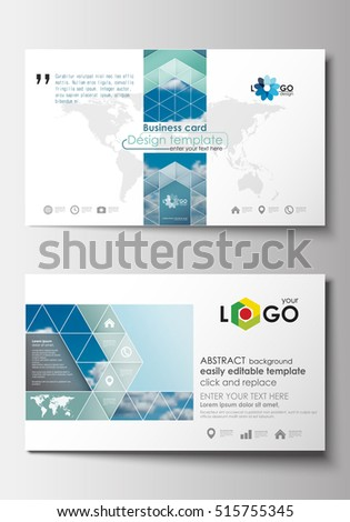 Business card templates cover design template stock vector royalty business card templates cover design template easy editable blank abstract blue flat layout wajeb Image collections