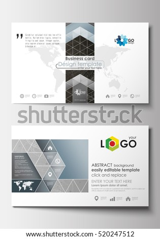 Business card templates cover design template stock vector royalty business card templates cover design template easy editable blank flat layout abstract flashek Gallery