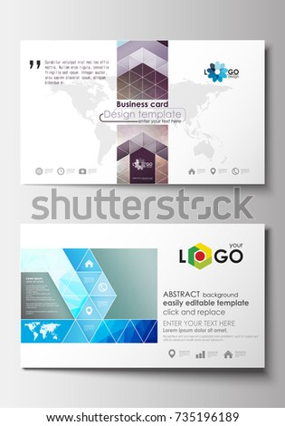 Business card templates cover design template stock vector royalty business card templates cover design template easy editable blank abstract flat layout wajeb Images
