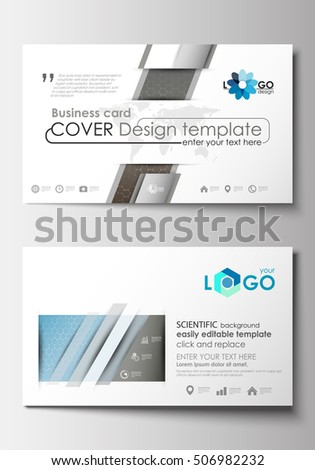 Business card templates cover template easy stock vector royalty business card templates cover template easy editable blank abstract flat layout scientific fbccfo Choice Image