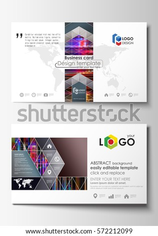 Business card templates easy editable layout stock vector royalty business card templates easy editable layout abstract vector design template glitched background made flashek Gallery