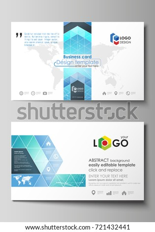 Business card templates easy editable layout stock vector royalty business card templates easy editable layout abstract vector design template chemistry pattern accmission Images