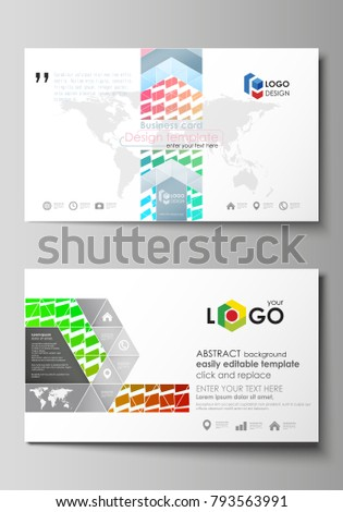 Business card templates easy editable layout stock vector royalty business card templates easy editable layout abstract vector design template colorful rectangles fbccfo Choice Image