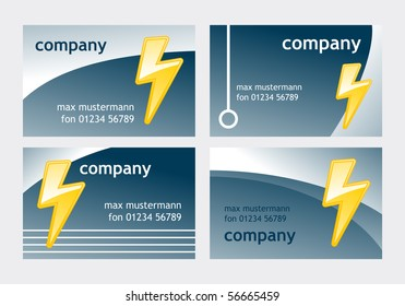 Electrician business card stock images royalty free images business card templates with symbolic lightning colourmoves