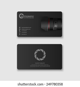Business card template.vector