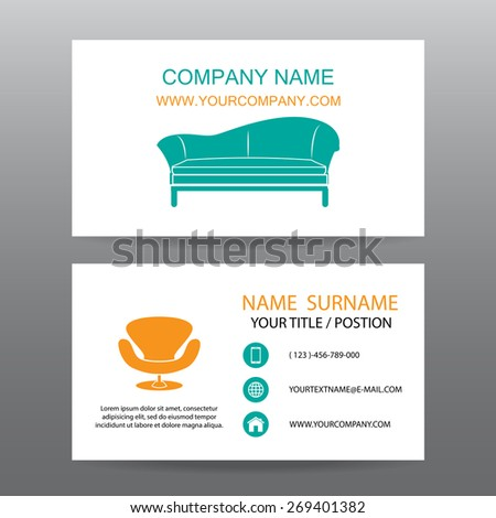 Business card vector background home office stock vector royalty business card vector backgroundhome office colourmoves