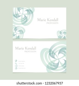 Business card. Vector design