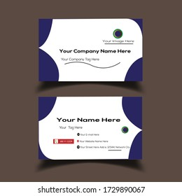Business Card and Vector Design Graphic Illiterate White  Color