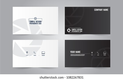 Business card vector design for Photographer.