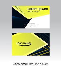business card vector illustration