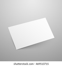 Business card vector mockup. Blank paper empty template illustration