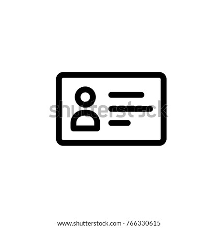 Business card vector outline icon stock vector royalty free business card vector outline icon colourmoves