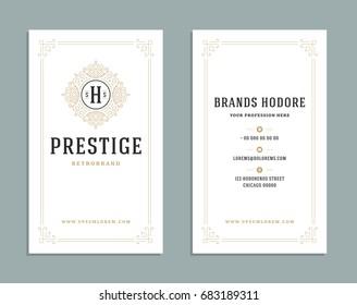 Business card vintage ornament style luxury em vetor stock 687248935 business card vintage ornament style and luxury logo vector template retro elegant flourishes ornamental design reheart Choice Image
