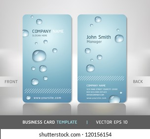 Business card water images stock photos vectors shutterstock business card with water drop vector illustration colourmoves