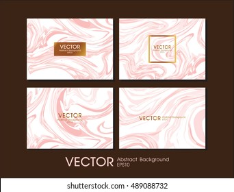 Business card with white and pink gold luxury marble texture