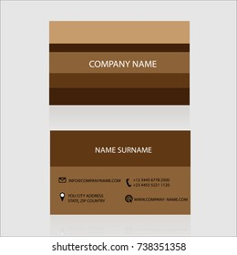 Business Card wood vector