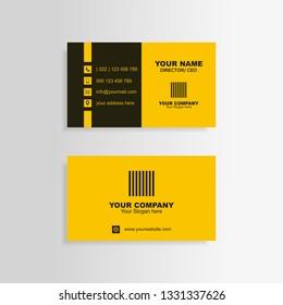 business card yelow minimalis