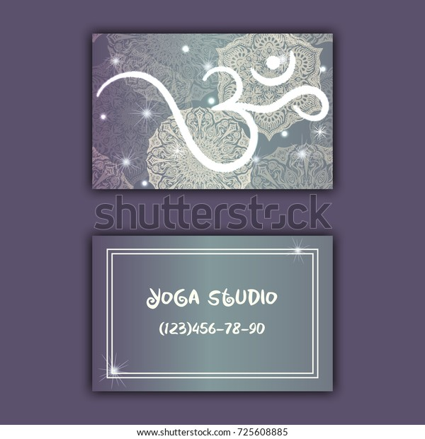 Business Card Yoga Studio Yoga Instructor Stock Vector Royalty Free 725608885