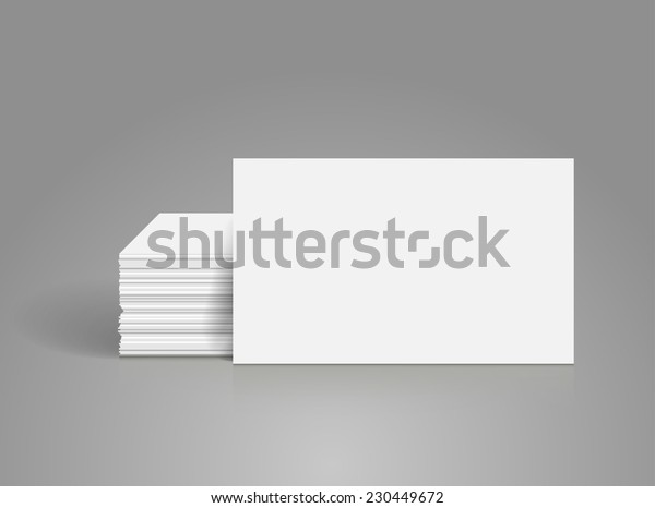 Business cards blank mock-up - template. Vector illustration